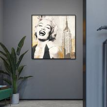 Canvas Wall art print abstract famous actress Marilyn Monroe oil sexy painting Poster Pictures Frame Oil Painting for Room Decor