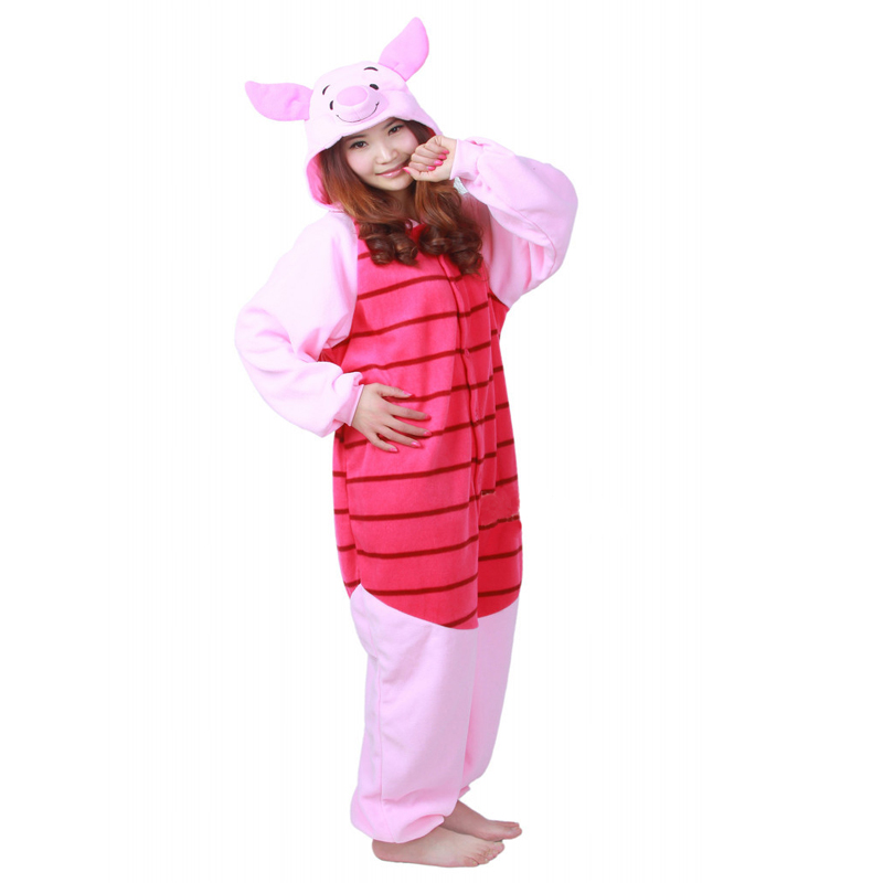 New Adult Piglet Pajamas Sleepsuit Sleepwear Pyjamas Unisex Onesie In Stock
