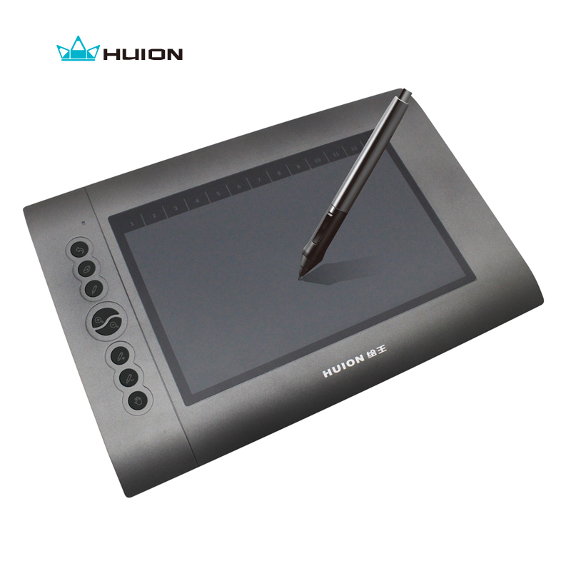 New HUION H610 10 x 6 4000 LPI 220 RPS 2048 Levels Genuine Drawing Tablets Art