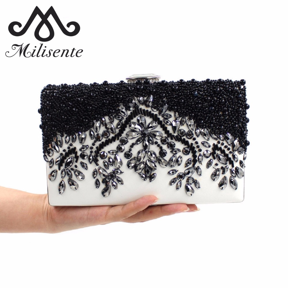 Milisente Women Clutch Bag Ladies Wedding Bags Female Vintage Clutches Ladies Evening Bags Party Purses qhcp stainless steel auto door sill strip scuff plate welcome pedal trim protector car styling for lexus nx200 300 300h 200t