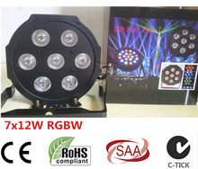 HOT 8pcs/lot 2017 7x 12W RGBW DMX Stage Lights Business Led Flat Par High Power Light with Professional for Party KTV Disco DJ