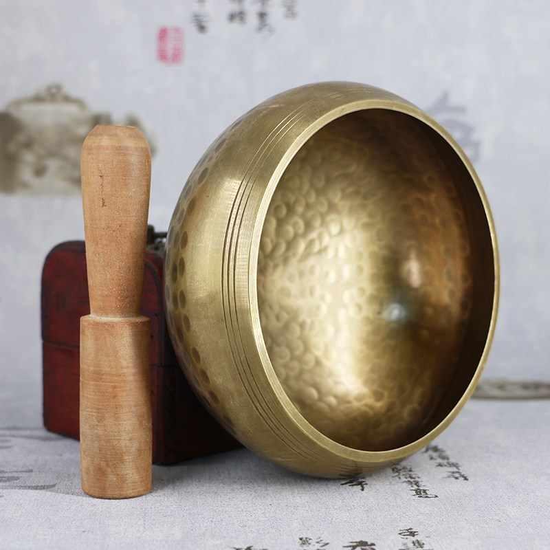 Neue Ankunft Tibetischen Buddhismus Schüssel Meditation Gehämmert Bedeutsamer Almosen Yoga Kupfer Sound Therapie Chakra Klangschalen Religiöse Liefert