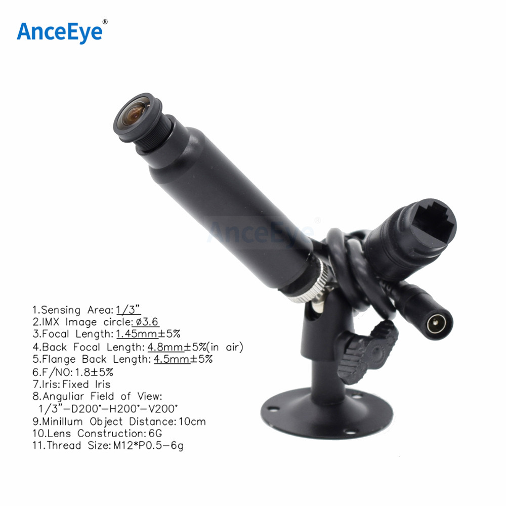 AnceEye 1080p Factory Sell CCTV Indoor Onvif P2P Miniature Bullet 180-degree Panoramic Wide-angle Fisheye Bird Cage Pet Camera