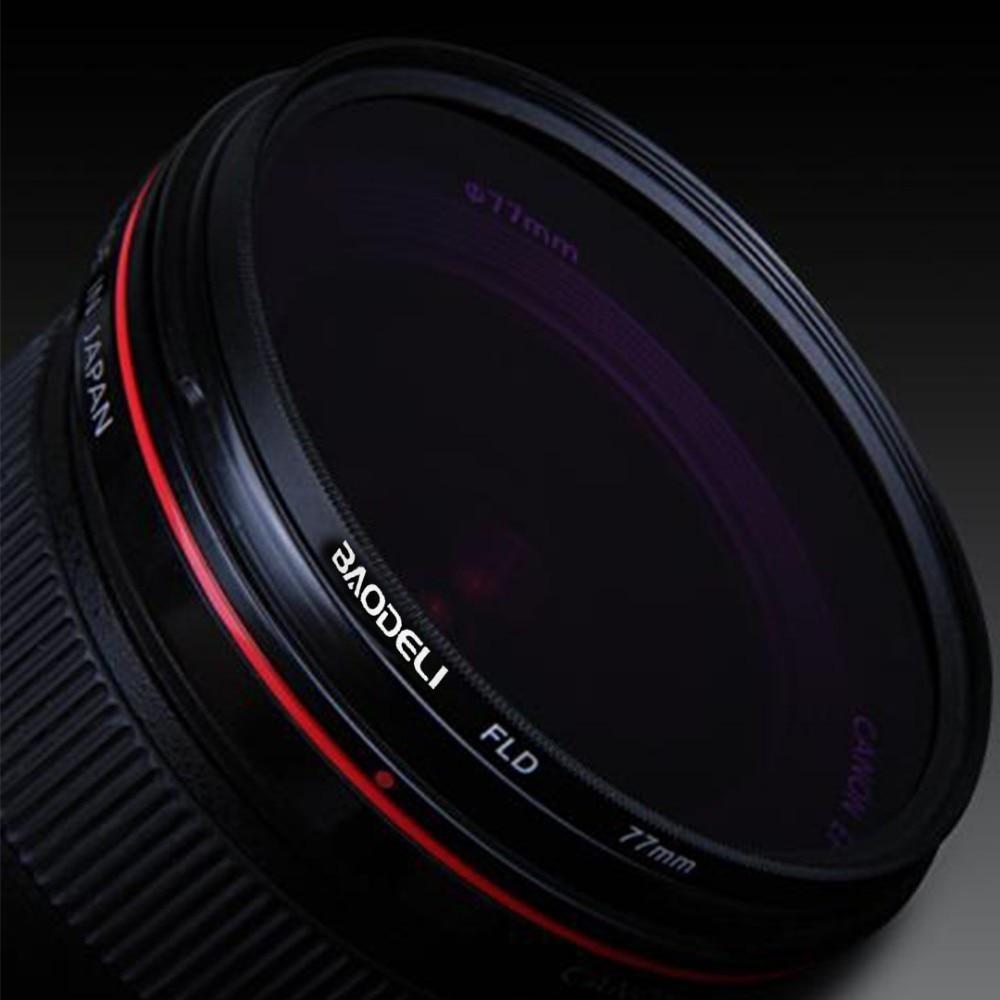 """מוצרי טיפוח ובריאות BAODELI DSLR עדשה Filtro FLD מסנן 49 קונספט 52 55 58 62 67 77 82 72 מ""""מ מ""""מ עבור אביזרים מצלמה Canon Nikon D5300 סוני A6000 (5)"""