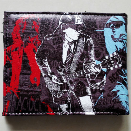 2018 Music Band ACDC Band ACDC LOGO 02 wallets Purse Multi-Color  Leather W187