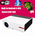 High quality Best Full HD 1080P 5500lumens LED Home theater projector Built-in Android 4.42 wifi LED lamp over 50,000hours