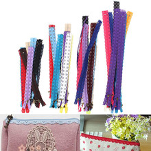 10pcs Multicolor Lace Closed End Zippers Puller Nylon Zipper For Purse Bags DIY Sewing Accessories Random Colors(China)