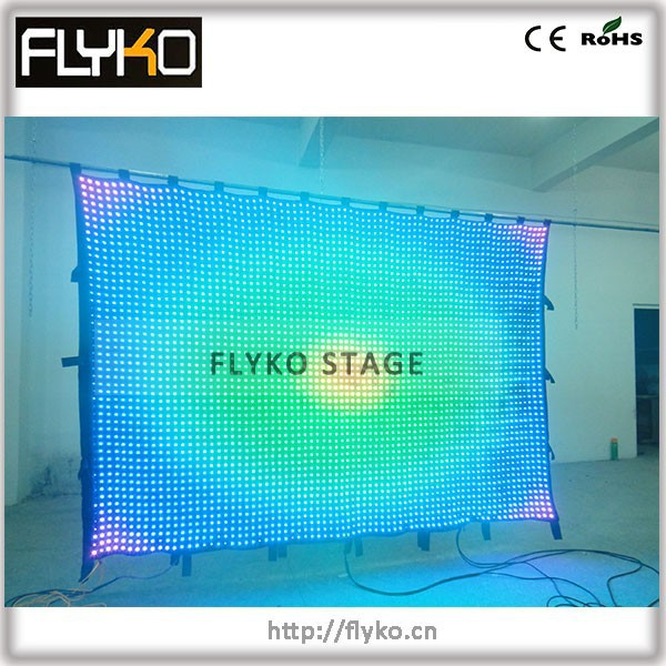 Optical Fiber Monitor : Free shipping m p optical fiber led curtain video