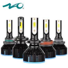 НАО h7 led h4 светодиодные фары h1 светодиодная лампа для авто h11 автомобиля 12 V h4 мотоцикл свет hb4 hb3 h8 9006 автомобильные аксессуары 9005 h9 6000 K
