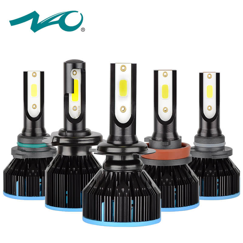 NAO h7 led h4 led headlight h1 led lamp for auto h11 car 12V h4 motorcycle light hb4 hb3 h8 9006 Car Accessories 9005 h9 6000K