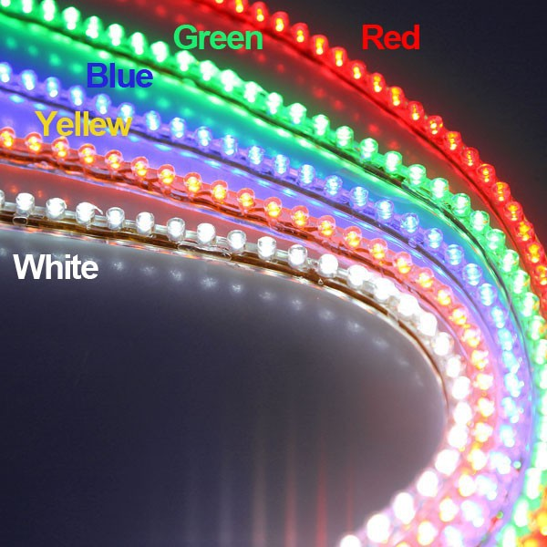 48CM 48 LED Motorcycle Car Bike Decoration Waterproof 12V Flexible Led  Light Yellow/Red/White/Green/Blue Parking Lamp
