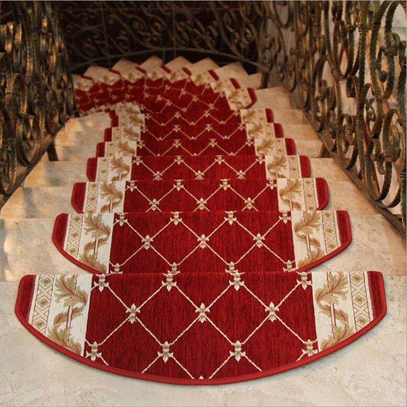 13 sztuk schody dywan zestawy antypoślizgowe maty na stopnie do schodów dywaniki do schodów krok 24X74cm pasuje do 25cm szerokość schody w Dywany od Dom i ogród na  Grupa 3