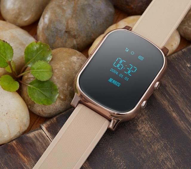2017 kid smart watch t50 localização gps sos chamada seguro relógio de pulso localizador Localizador Rastreador Relógio para o Miúdo Criança Anti Perdido Monitor Do Bebê