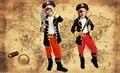 Дети Мальчики Пиратские Костюмы/косплей Костюмы для Мальчиков/halloween Party Косплей Костюмы для Детей/Детей Косплей костюмы