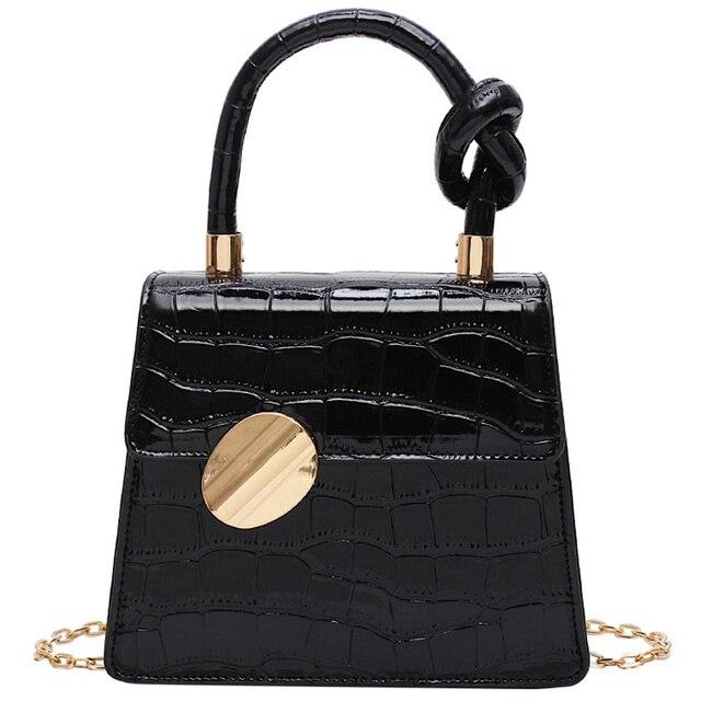 Moda 2019 nueva bolsa de mano de cuero de calidad bolso de diseñador de Mujer bolso de bandolera con patrón de cocodrilo 1