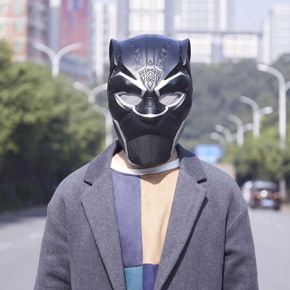 Черная пантера Косплей Маска 2018 фильм Шлем Супергероя ваканда маска для лица Хэллоуин аксессуары черный реквизит взрослые Вечерние Маски