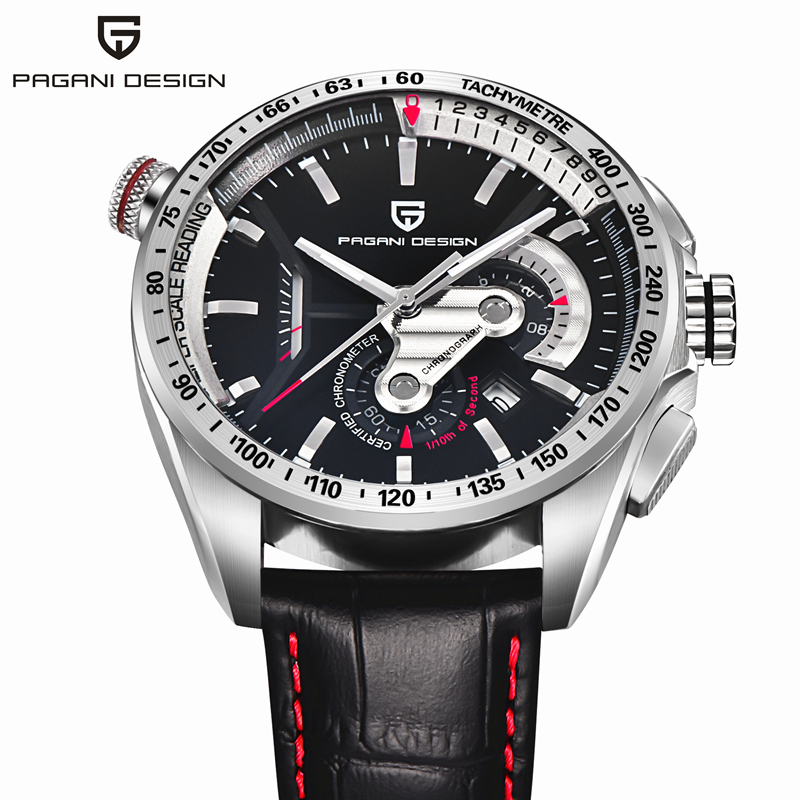 Top Luxury Brand PAGANI DESIGN Chronograph Quartz Watch Multifunctional Fashion Men's Sport  Watches Relogios Masculino цена 2017