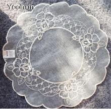 HOT embroidery lace table…