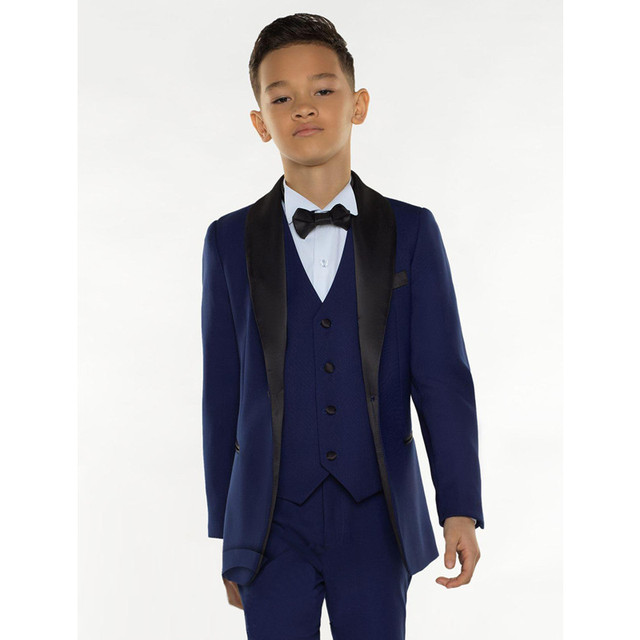 f178207c9 Blue Boys Suits for Weddings Prom Party Boy Suits Formal Dress for a Boy  Kids Tuxedo Children Clothing Blazer(Jacket+Pants+Vest)