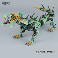 H HXY 06051 Movie Series 592pcs Flying Mecha Dragon Building Blocks Bricks Education Toys Gift Compatible