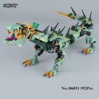 H HXY 06051 Movie Series 592pcs Flying Mecha Dragon Building Blocks Bricks Education Toys Gift Compatible