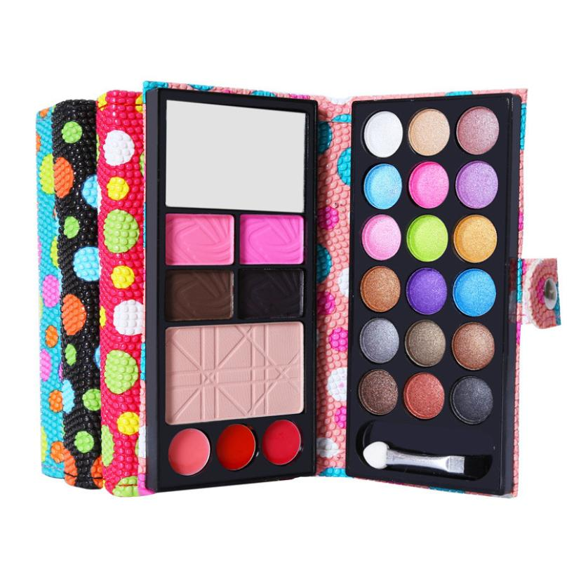 Hot Beautiful Lady 26Colors Eye Shadow Makeup set Palette Cosmetic Eyeshadow Blush Lip Gloss Powder set Dropshipping
