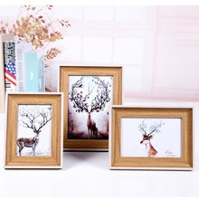 Vintage Wooden Multi Photo Frame Picture Frames Wall Hang Collage Colorful Set Wall Decoration Home Accessories(China)