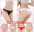 2PCS/PACK Intimates Invisible Underwear String Panty Sexy Seamless Crotch Thong Ice Ultra thin Women Female T Pants Ladies H045