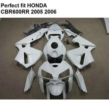 Fit for Honda fairings CBR600RR 2005 2006 white fairing kit CBR 600RR 05 06 PT07