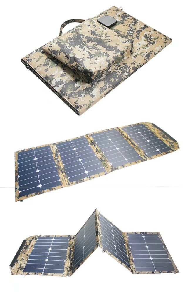 80W Foldable Solar Cells Panel Charger Backpack Sunpower Solar Panel Charger with Dual USB for Mobile Phone Solar Battery 7w folding solar panel charger for mobile phone camera more camouflage