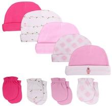 Шапки и кепки для новорожденных, Детские аксессуары, 5 шт./лот, перчатки для новорожденных, для мальчиков и девочек 0-6 месяцев, реквизит для фотосессии
