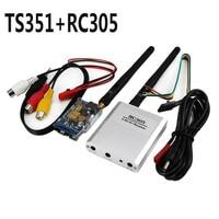 OCDAY 5.8 D FPV 200 MW AV Émetteur Sans Fil 5.8 GHz, le TX Rx Récepteur TS351 + RC305 Ensemble 2 KM 2000 M