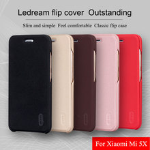 for xiaomi mi 5x Leather case Lenuo Premium Ultra thin PU Soft flip cover for Xiaomi 5X mobile phone bag shell with card pocket