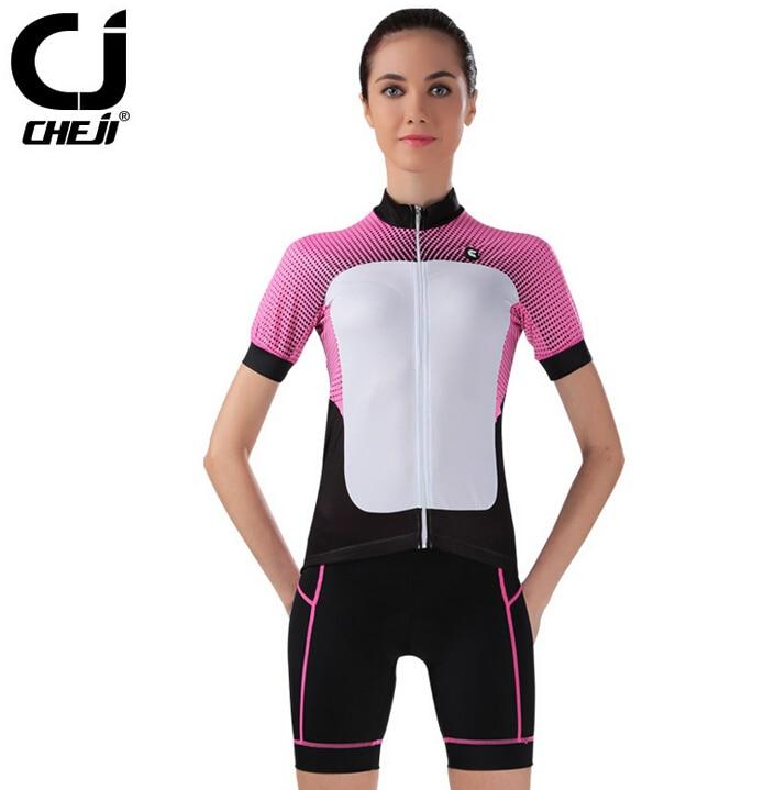 2017 Women's CheJi Bicycle Cycling Clothing Wear Biking Jersey Shorts Sets S~2XL tasdan women s cycling jersey sets bike wear bicycle cycling clothings jerseys shorts mtb shorts sports clothing sets suits