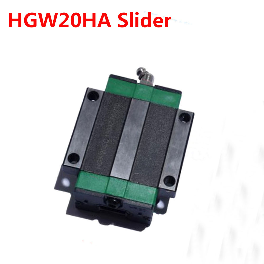 1PC HGW20HA Slider match use HGR20 Linear Guide Width 20mm Rail for CNC DIY parts hgh20ca slider block hgh20 ca match use hgr20 linear guide for linear rail cnc diy parts