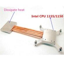 Для Intel 1151 1155 1150 компьютер Вентилятора ПРОЦЕССОРА радиатор Медные тепловые трубы DIY kit алюминиевый корпус компьютера тихий тихий радиатор