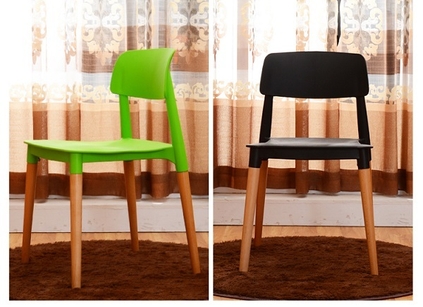 living room chair green black color plastic PP seat free shipping furniture hall retail wholesale