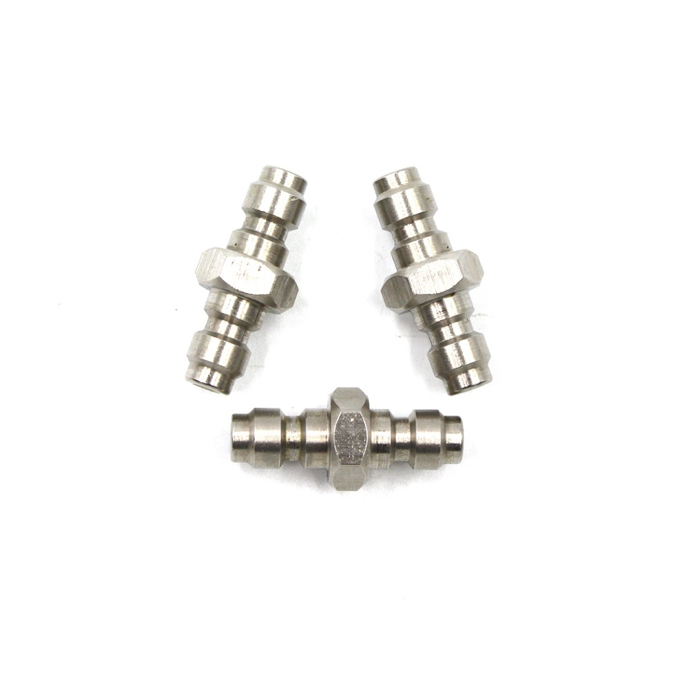 PCP Airforce Paintball Pneumatic Quick Coupling Air Sockets Stainless Steel Double End Male Plug 8mm Fill Nipple 3 PCS/1 LOT