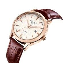 XIAOYA Ouro rosa Relógio De Pulso Dos Homens 2017 Top Marca de Luxo Famoso Relógio Masculino Relógio de Quartzo de Ouro relógio de Pulso Relogio masculino