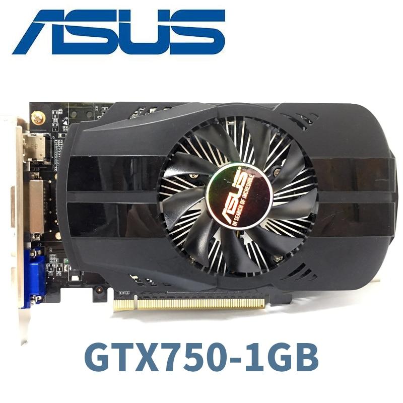 Asus GTX 750 1 GTX-750-FML-1GB GTX750 G D5 DDR5 128 Bit PC Desktop Placas Gráficas PCI Express 3.0 computador Placa Gráfica cartões