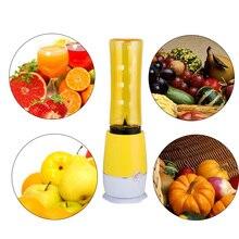 Portable Electric Juice Juicer Blender Kitchen Home Outdoor Travel Mixer Drink Bottle Smoothie Maker Fruit Yellow