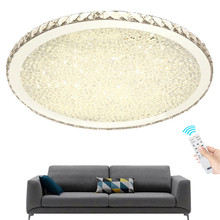 Modern Crystal Decor LED Ceiling Lights Creative Round Cold Warm White Remote dimming Lamp for Living Room Bedroom Foyer