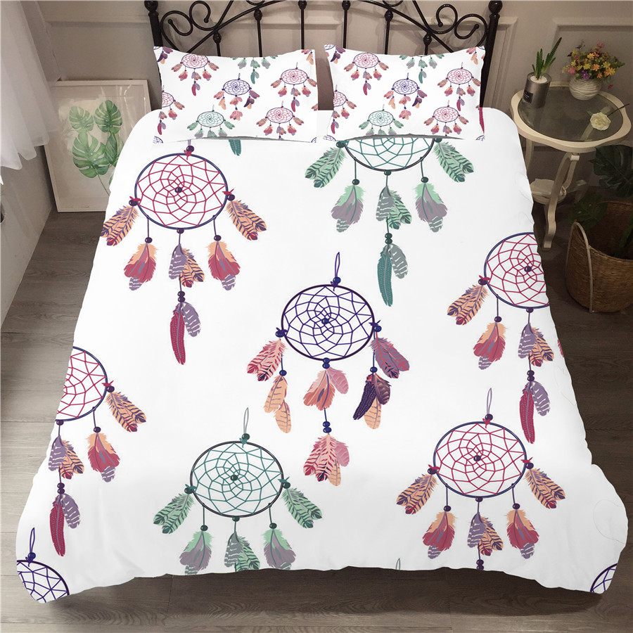 Bedding Set 3D Printed Duvet Cover Bed Set Dreamcatcher Bohemia Home Textiles For Adults Bedclothes With Pillowcase BMW10