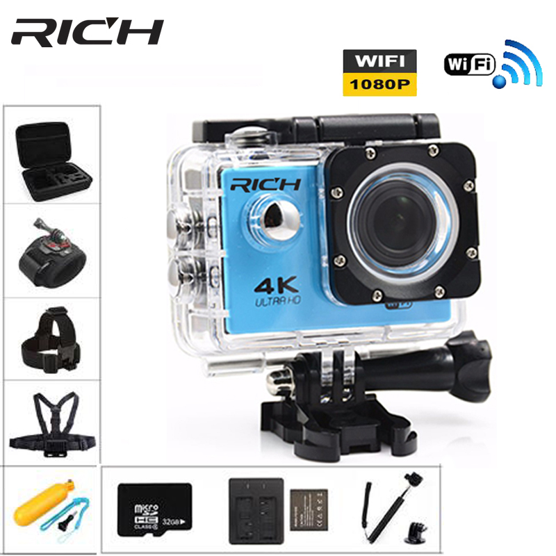 RICH F7 Pro Wifi sports Action Camera HD 170D 2.0 Screen cam Go 30M Waterproof underwater Cameras Sport Mini Cam Hero 4 style цена