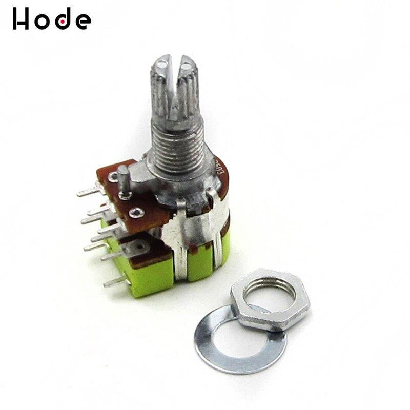 Alta qualidade b50k 50 k ohm duplo linear atarraxamento interruptor do potenciômetro de controle de volume