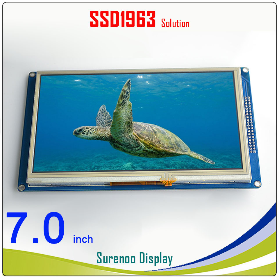 7.0 7 inch 800*480 TFT Touch LCD Module Display Screen Panel with PCB Adapter Build-in SSD1963 Controller for STM32/51/AVR7.0 7 inch 800*480 TFT Touch LCD Module Display Screen Panel with PCB Adapter Build-in SSD1963 Controller for STM32/51/AVR
