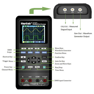 Image 5 - Hantek 3in1 Digitale Oszilloskop + Wellenform Generator + Multimeter 40mhz 70mhz USB Handheld 2 Kanal Multifunktions Osciloscopio