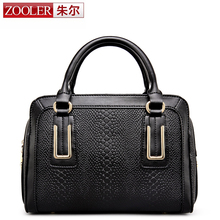 2016 new!ZOOLER bags boston pillow women famous brands superior cowhide leather women  handbag fashion  bolsas tote #2635