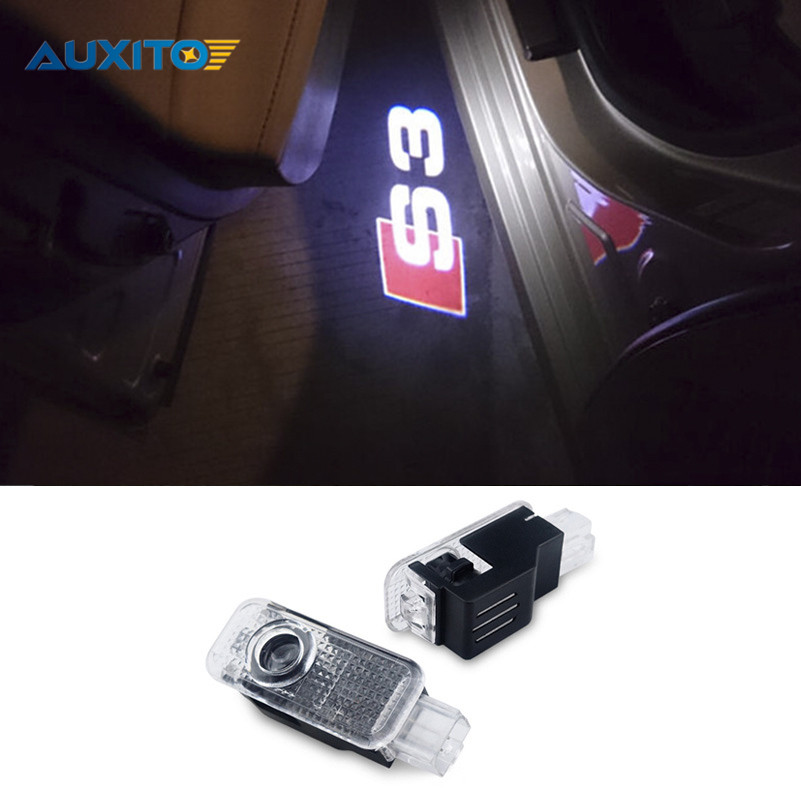 2x Car LED Logo Projector Door Light for Audi A1 A3 A4 A5 A6 A7 A7 B5 B6 B7 B8 R8 TT Q3 Q5 Q7 C5 C6 S6 8V 8P 8L Quattro S3 Logo 2pcs led logo door courtesy projector shadow light for audi a3 a4 b5 b6 b7 b8 a6 c5 c6 q5 a5 tt q7 a4l 80 a1 a7 r8 a6l q3 a8 a8l