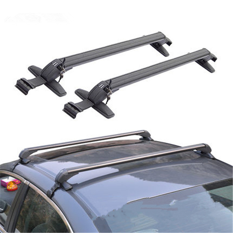 CARSUN 2x Universal Car Roof Rack Aluminum Luggage Box Roof Cross bar Rail Top Box Luggage Boat Carrier Luggage Car Rack
